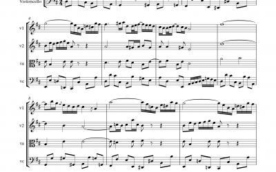Air aus der Orchester-Suite Nr.3 BWV 1068 (Johann Sebastian Bach)<h5>Partitur, Einzelstimmen & Playbacks</h5>