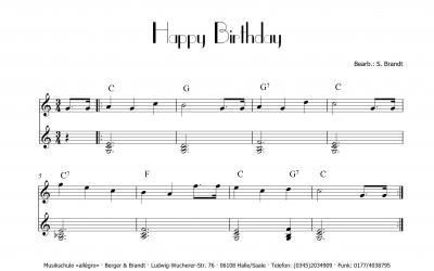 Mehr als nur ein Geburtstagslied Happy Birthday u.a.