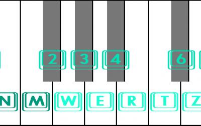 Virtuelle Piano Klaviatur online