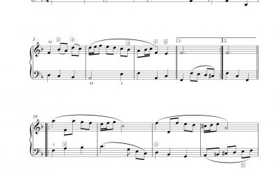 Menuett aus dem »Notenbüchlein für Anna Magdalena Bach«