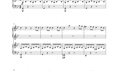 Molto Allegro aus Sinfonie Nr. 40 (Wolfgang Amadeus Mozart) KV 550 vierhändig