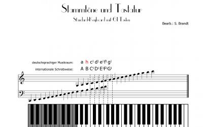 Stammtöne und Tastatur (Klaviatur)