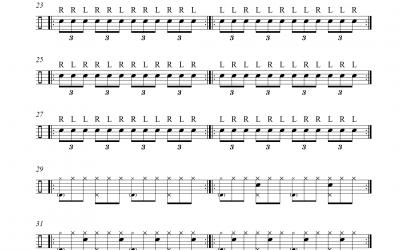 Vorübung Triolen (Paradiddle)