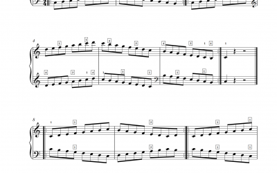 Tonleitern spielen Klavier Set 2